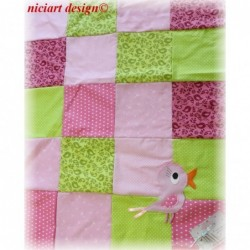 NICIART BABY PATCHWORKDECKE...
