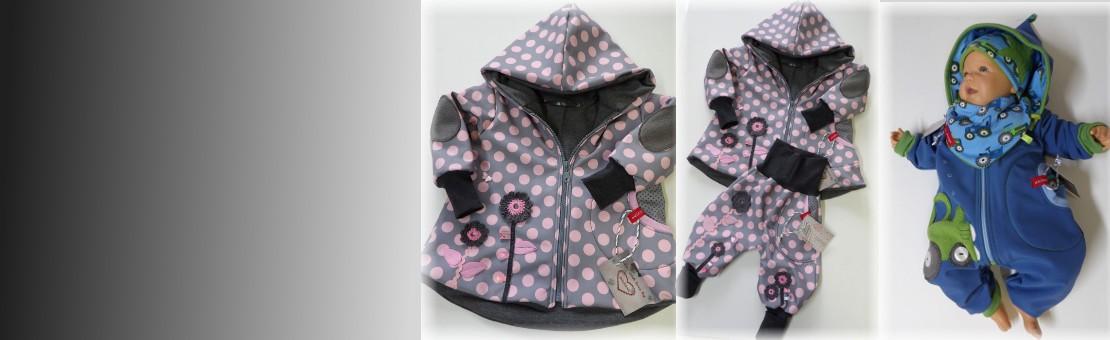 Babyoveralls, Jacken und Hosen
